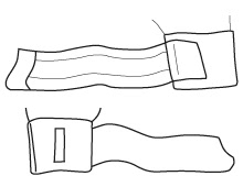 Strap with one mooring