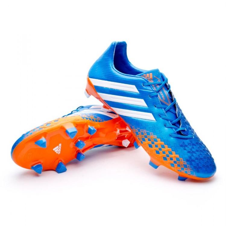51d98a786922f Chuteira adidas Predator LZ TRX FG Azul-Laranja - Loja de futebol ...