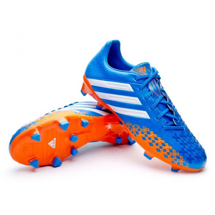 28c10b7b120d5 Zapatos de fútbol adidas Predator Absolion LZ TRX FG Azul-Naranja ...