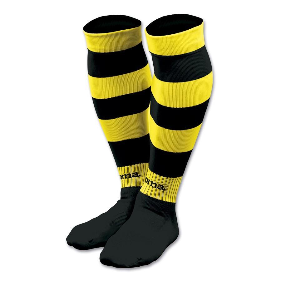 silencio Ciudad Menda Renacimiento  Medias Joma Zebra Negra-Amarilla - Tienda de fútbol Fútbol Emotion