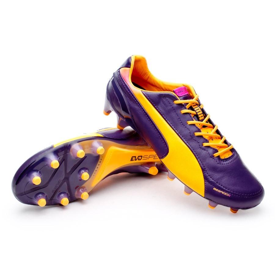 24412fca08 Boot Puma Evospeed 1.2 Lth FG Purple-Orange - Leaked soccer
