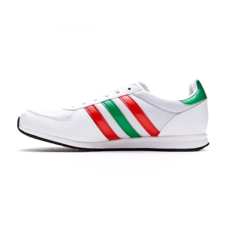 Zapatilla adidas Adistar Racer Blanca-Roja-Verde - Soloporteros es ... aab192d855392