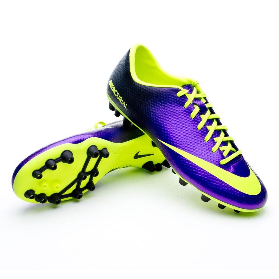 c178c4e34 Nike Mercurial Victory IV AG Football Boots. Pure purple-Volt ...