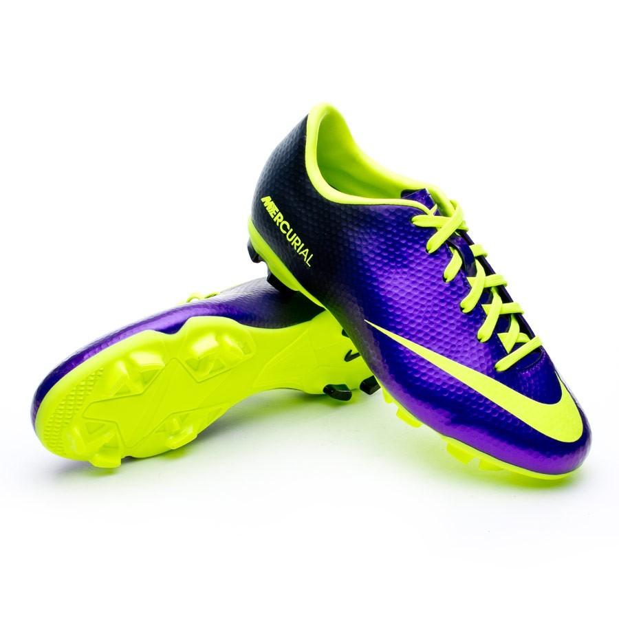 d3fc933e70fb Football Boots Nike Jr Mercurial Victory IV FG Pure purple-Volt ...