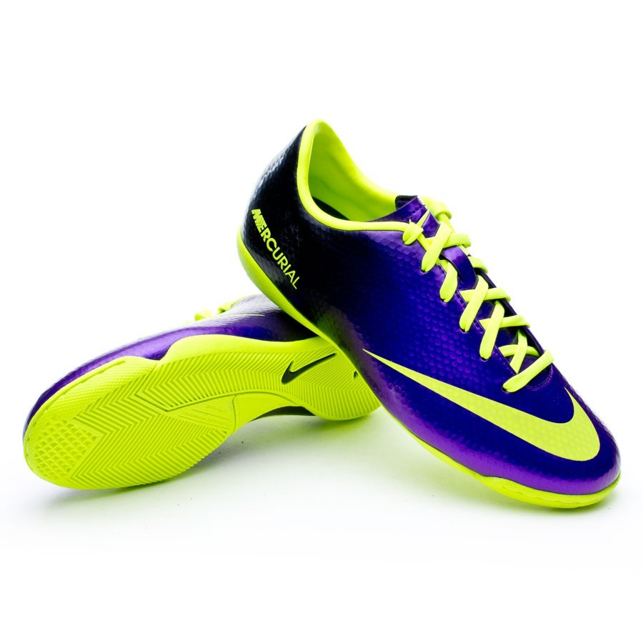 Sapatilha de Futsal Nike Jr Mercurial Victory IC Pure purple-Volt ... 542e53b8b41a3