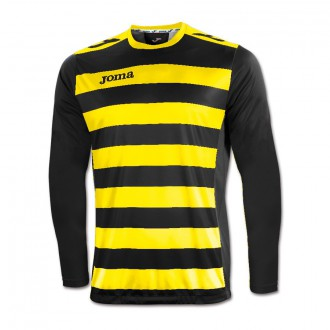 Jersey Joma LS Europa II Black-Yellow