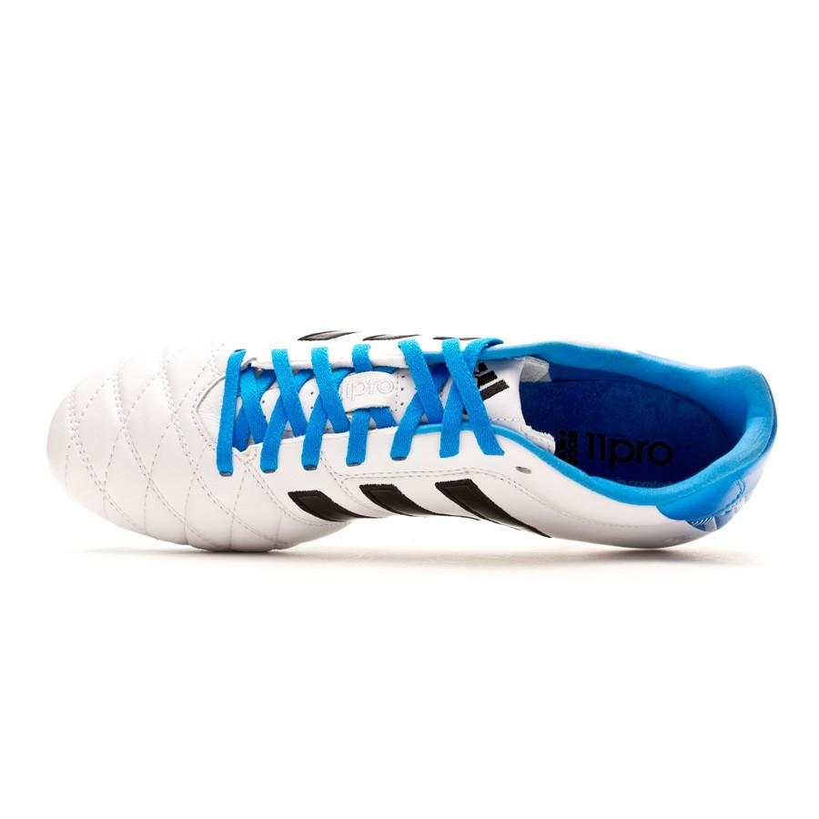 actualizar Máquina de escribir Oeste  Football Boots adidas adipure 11Pro TRX FG White-Solar blue - Football  store Fútbol Emotion