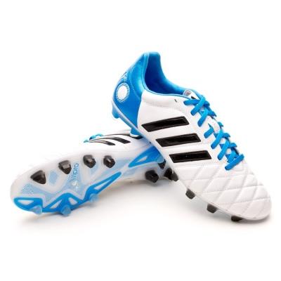 Chaussure de foot adidas adipure 11Pro TRX FG Blanc-Solar blue ...