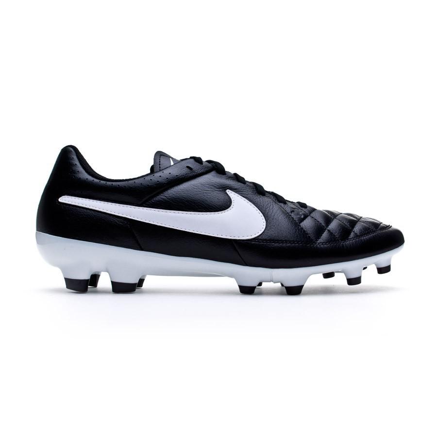 f6be3c9f09e Bota de de de fútbol Nike Tiempo Genio FG Negra Soloporteros es ahora 0e9cc0