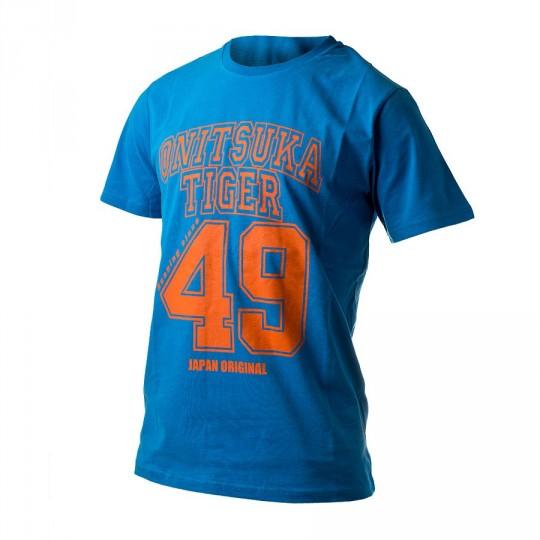 T-Shirt  Onitsuka Tiger Baseball Tee Blue-Orange