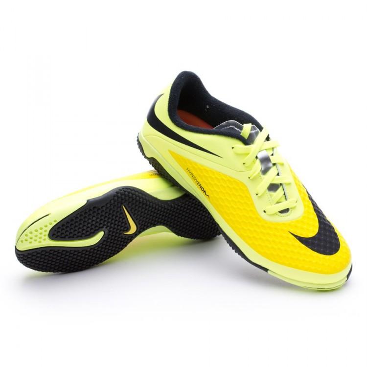 34f29db33e6 Tenis Nike Hypervenom Phelon IC Niño Vibrant yellow-Volt ice ...