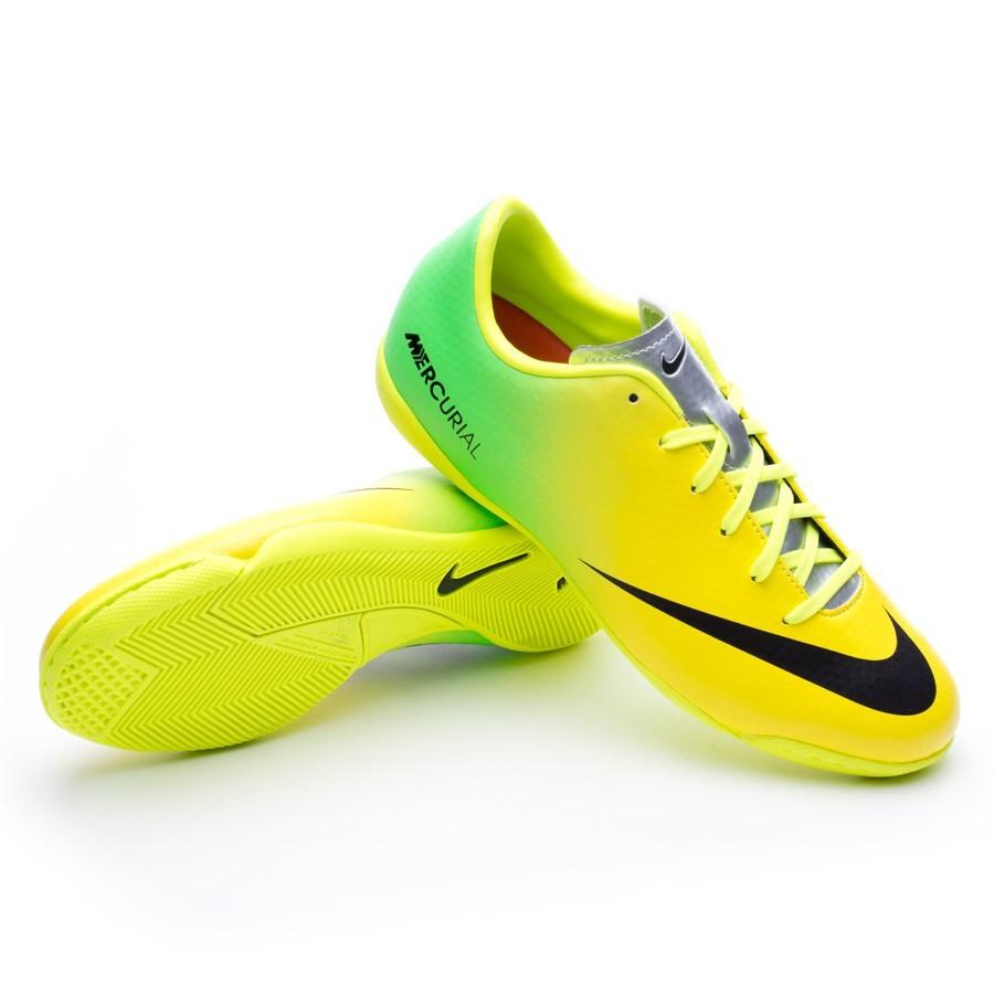 5a75846fe Nike Jr Mercurial Victory IV Futsal Boot. Vibrant yellow-Neo lime ...