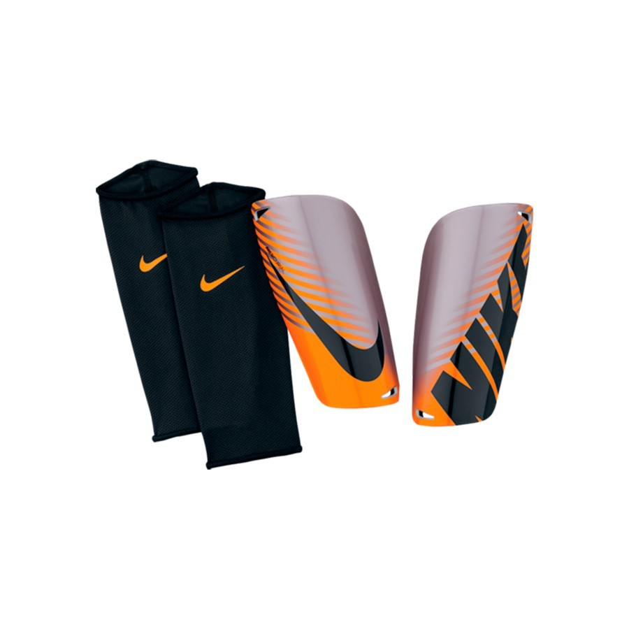 prot ge tibia nike mercurial lite argent orange boutique de football f tbol emotion. Black Bedroom Furniture Sets. Home Design Ideas