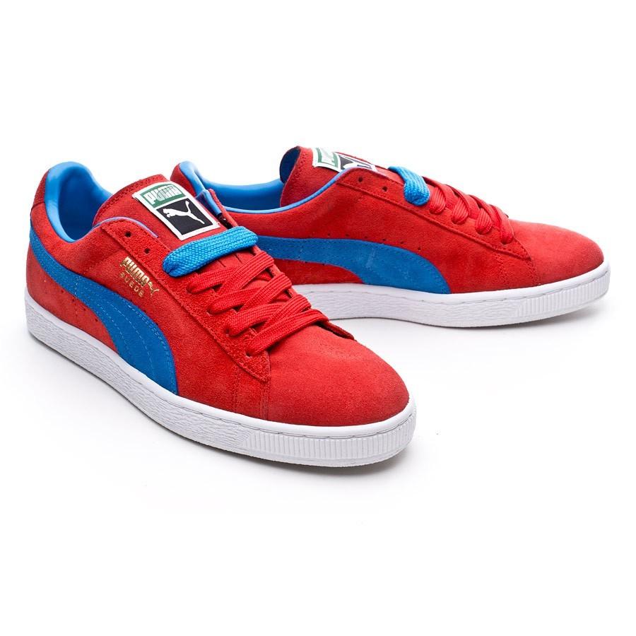 puma suede rouge et bleu