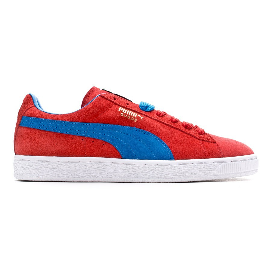 dc625944a917a Baskets Puma Suede Classic+ Rouge-Bleu - Boutique de football Fútbol Emotion