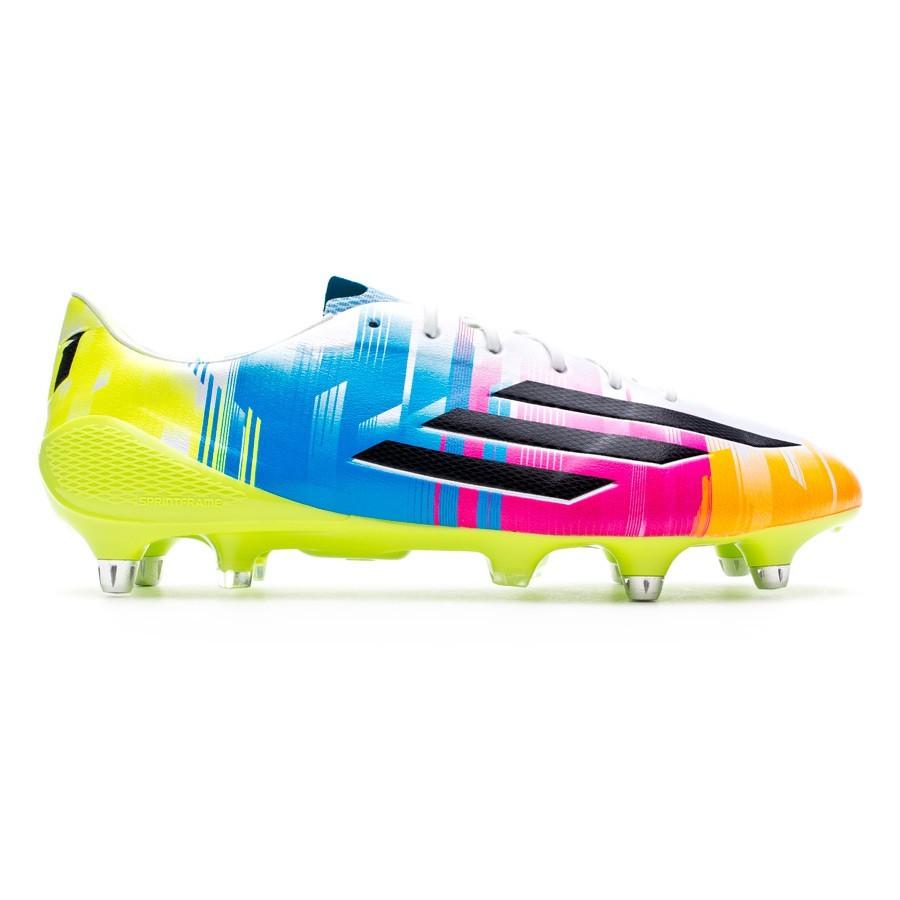 d0f97822e3cbe3 Scarpe adidas adizero F50 XTRX SG Messi Running white-Black-Solar slime -  Negozio di calcio Fútbol Emotion