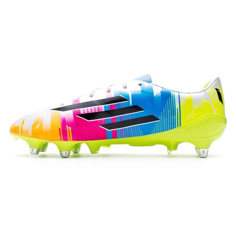 af523e7aca6be Chuteira adidas adizero F50 XTRX SG Messi Running white-Black-Solar slime -  Loja de futebol Fútbol Emotion