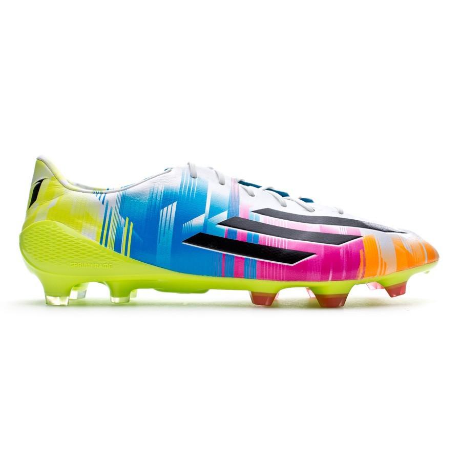 d00967173e3 Football Boots adidas adizero F50 TRX FG Messi Running white-Black-Solar  slime - Football store Fútbol Emotion