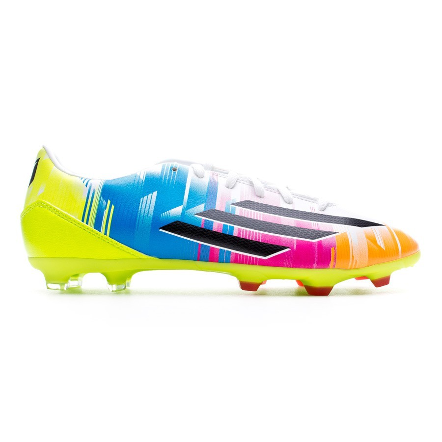Boot adidas F10 TRX FG Messi Running white-Black-Solar slime - Football  store Fútbol Emotion dd593b103d465