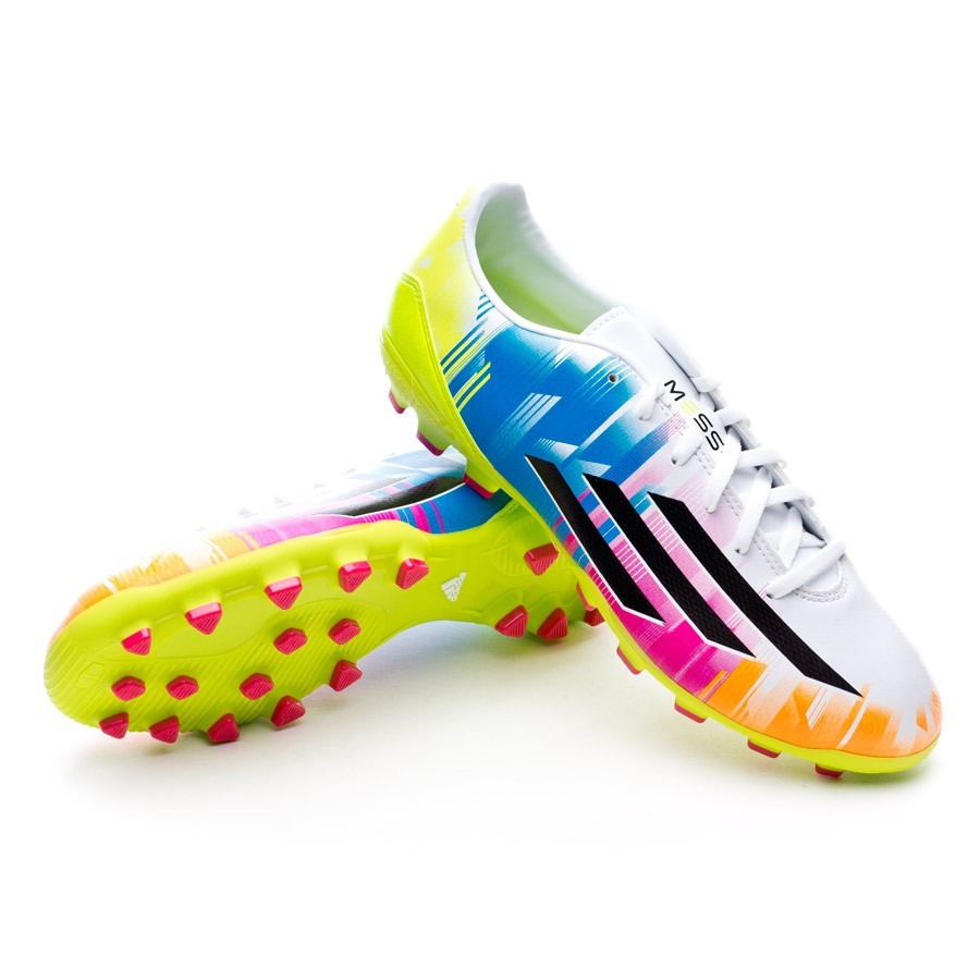 uk availability cabf1 119af adidas F10 TRX AG Messi Boot. Running white-Black-Solar slime ...