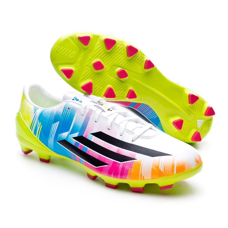 best loved a44ef d7445 Boot adidas F10 TRX HG Messi Running white-Black-Solar slime - Football  store Fútbol Emotion