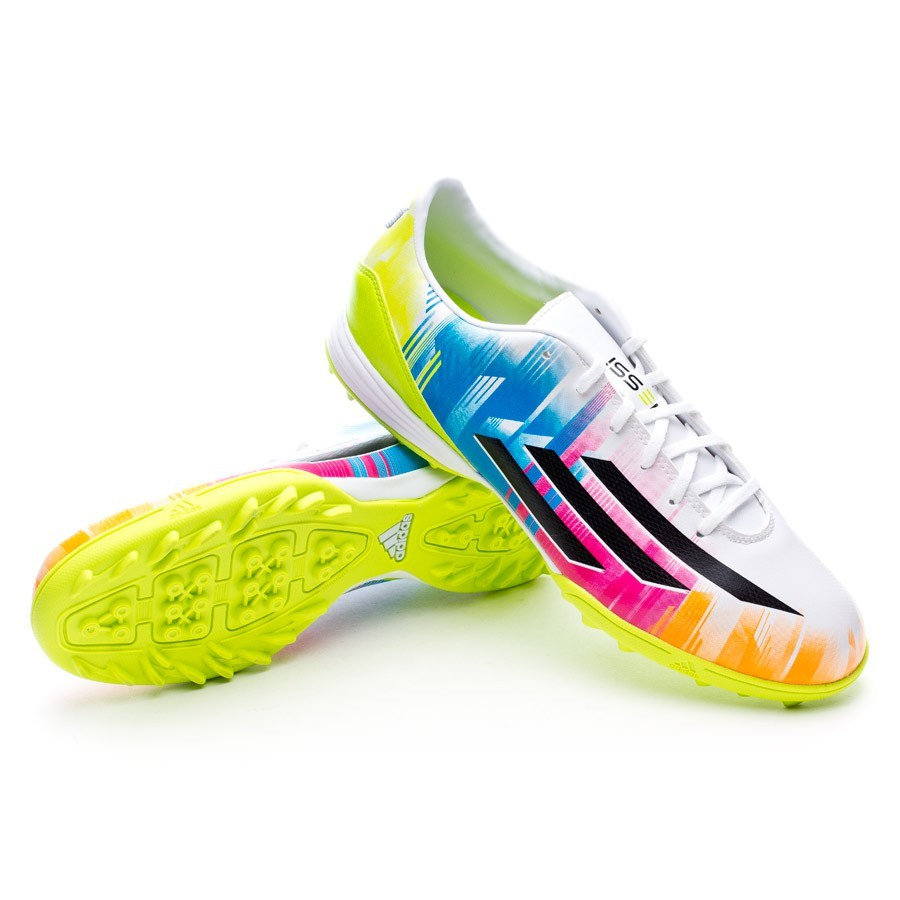 exprimir hormigón en un día festivo  Football Boots adidas F10 TRX Turf Messi Running white-Black-Solar slime -  Football store Fútbol Emotion