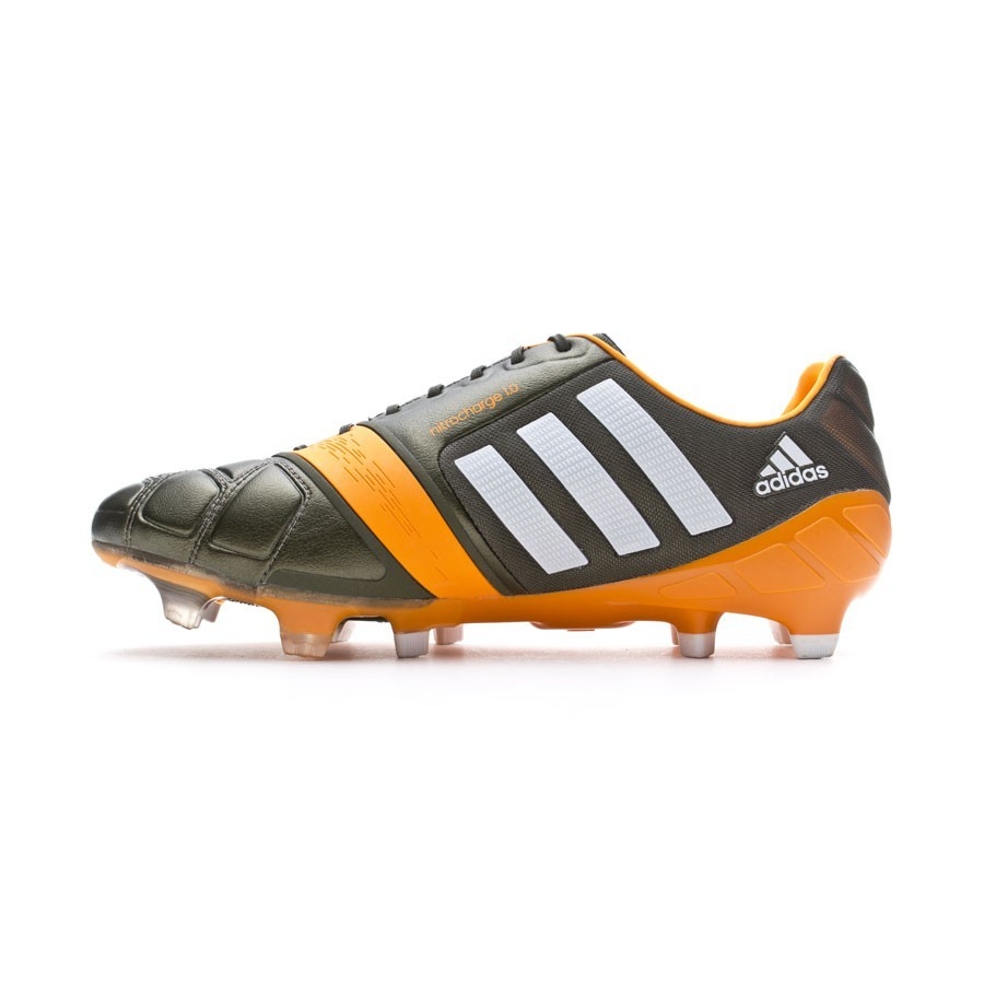 334fe65f6cd Football Boots adidas Nitrocharge 1.0 TRX FG Earth green-Running white-Solar  Zest - Football store Fútbol Emotion
