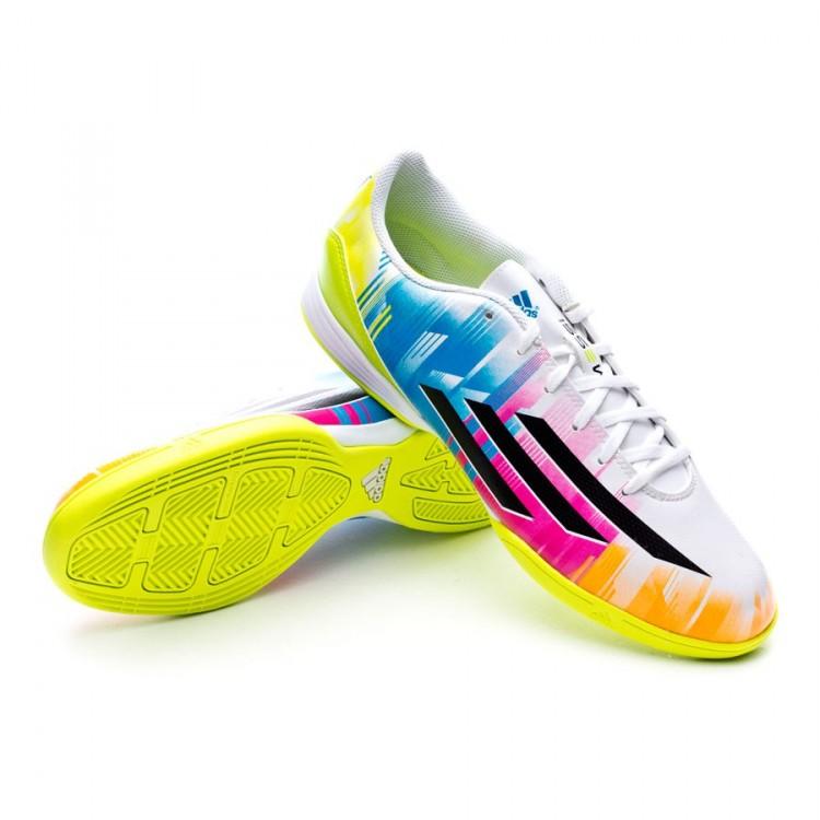 Futsal Boot adidas F10 IN Messi Running white-Black-Solar Slime ... 15051373e34b8