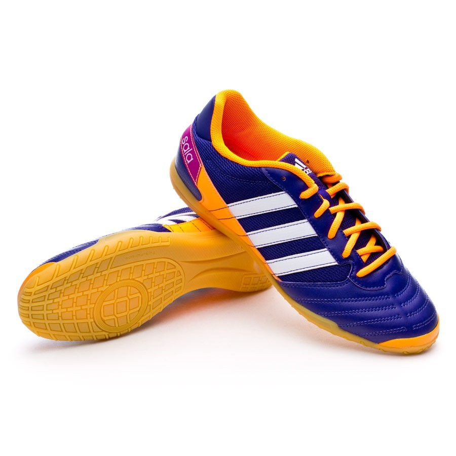Futsal Boot adidas Super Sala Collegiate purple-Solar zest-Running white -  Football store Fútbol Emotion e4cefafe720c