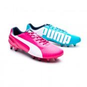 caliente dramático Tienda  Football Boots Puma evoSPEED 1.2 Tricks FG Fuchsia-Blue - Football store  Fútbol Emotion