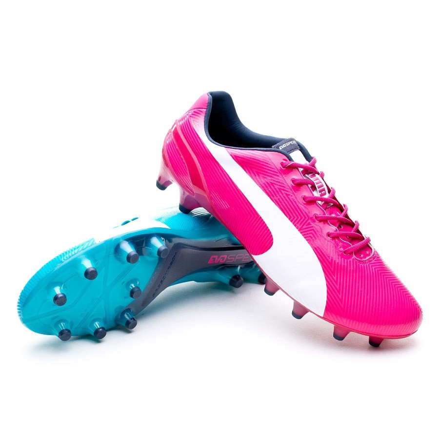 e94309f593db7 Chuteira Puma evoSPEED 1.2 Tricks FG Betroot Purple-Bluebird White - Loja  de futebol Fútbol Emotion