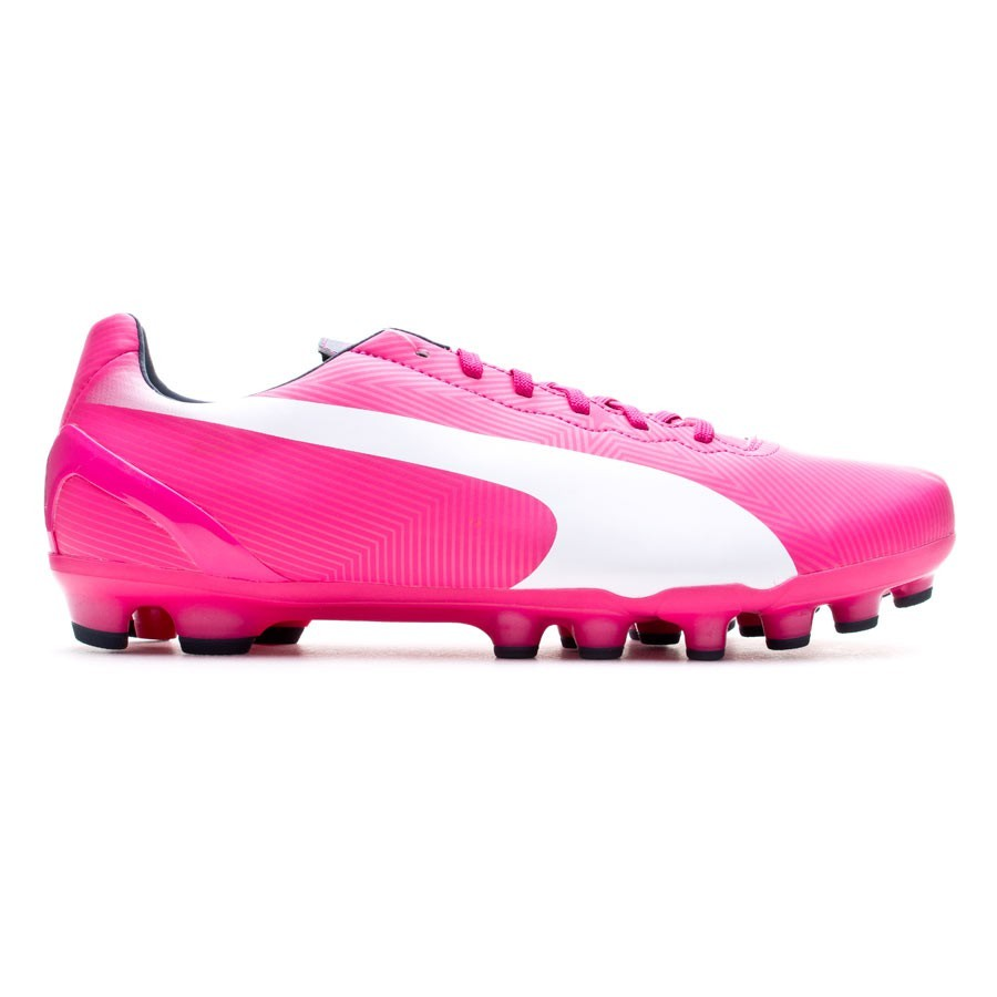 a0fcc674af3 Football Boots Puma Jr evoSPEED 4.2 AG Fuchsia-Blue - Football store Fútbol  Emotion