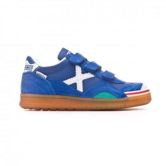 Chaussure de futsal Munich Gresca Vco enfant Bleu-Blanc