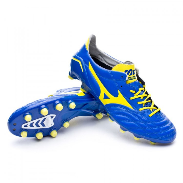 Boot Mizuno Morelia Neo MD Blue-Yellow - Football store Fútbol Emotion 4b733b8ed7084