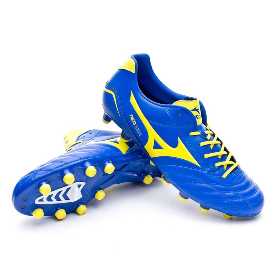 456942f3f0d68 Football Boots Mizuno Neo Zen MD Blue-Yellow - Football store Fútbol ...