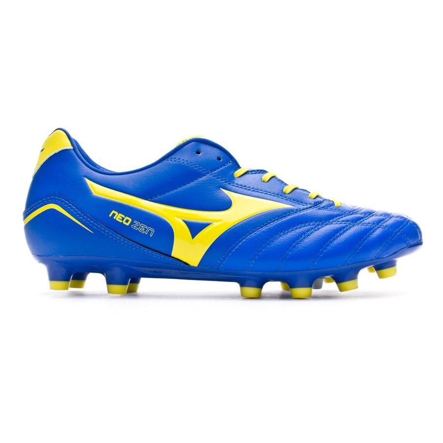 f76b8e640ab73 Football Boots Mizuno Neo Zen MD Blue-Yellow - Football store Fútbol Emotion