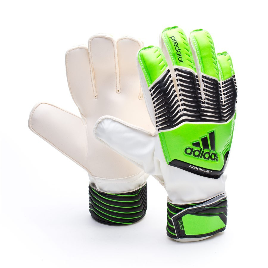 Guante de portero adidas Predator Fingersave Niño Solar green -  Soloporteros es ahora Fútbol Emotion d3834ef44dff6