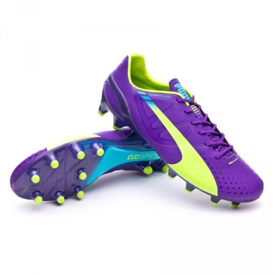 Bota  Puma evoSPEED 1.3 FG Synthetic Prism violet-Fluor yellow-Escuba blue