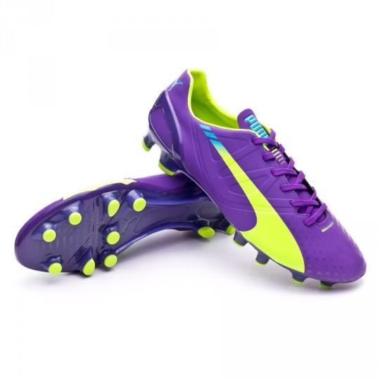 Bota  Puma evoSPEED 2.3 FG Prism violet-Fluor yellow-Escuba blue