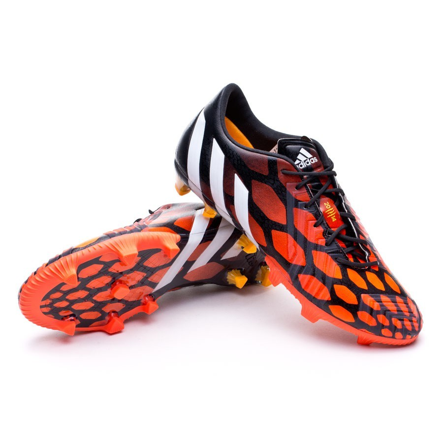 Football Boots adidas Predator Instinct FG Black-White-Solar red - Football  store Fútbol Emotion