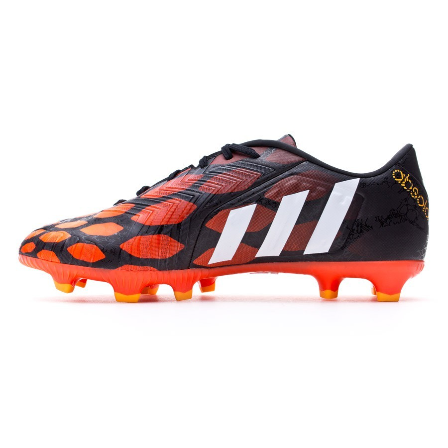 tarifa Poder dramático  Football Boots adidas Predator Absolado Instinct FG Black-White-Solar red -  Football store Fútbol Emotion