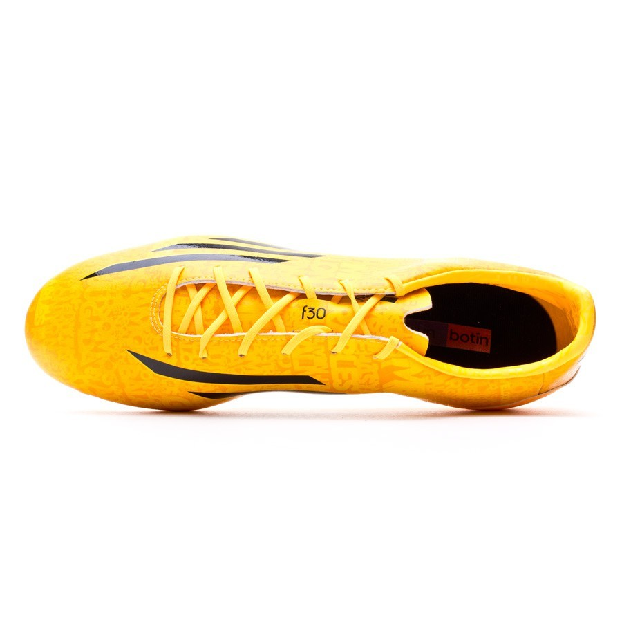 61149e1fd Football Boots adidas F30 FG Messi Solar gold-Black - Football store Fútbol  Emotion