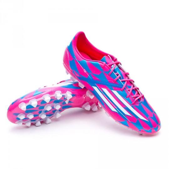 Bota  adidas F30 TRX AG Solar pink-Blanca-Solar blue