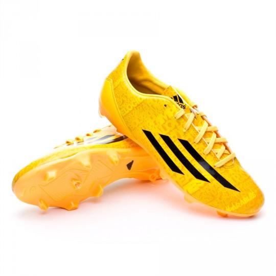 Bota  adidas F10 TRX FG Messi Solar gold-Negra