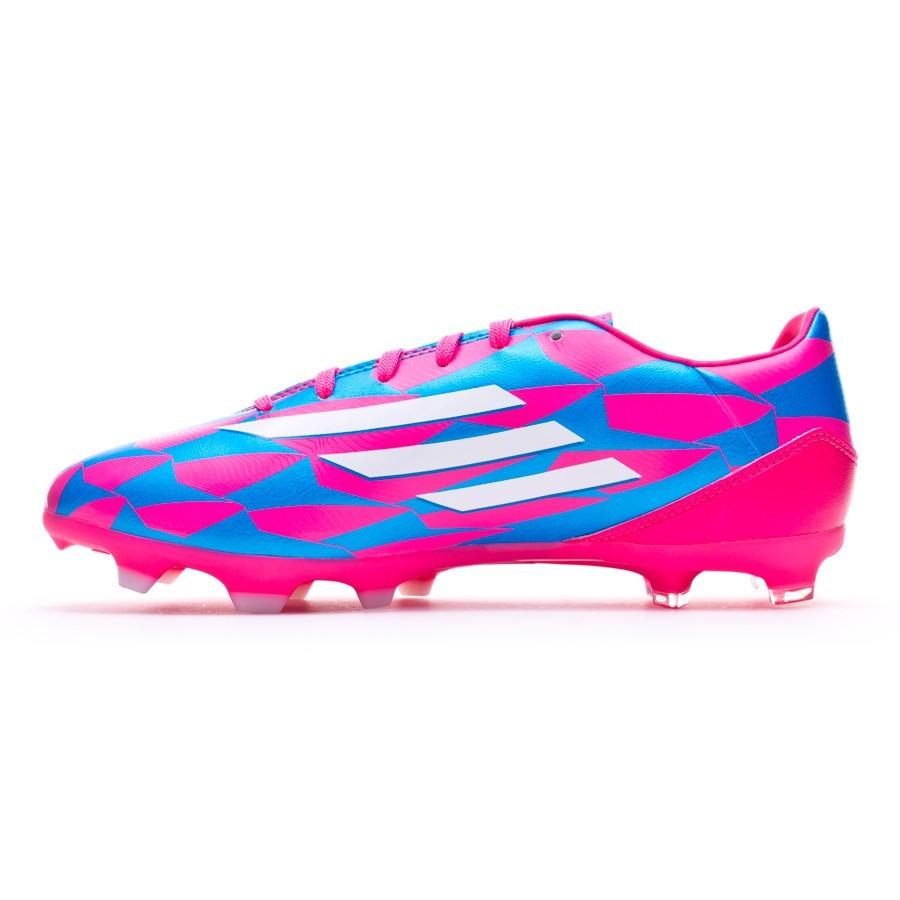 reputable site 1dbeb bd001 Chaussure de foot adidas F10 TRX FG Solar pink-Blanc-Solar blue - Boutique  de football Fútbol Emotion