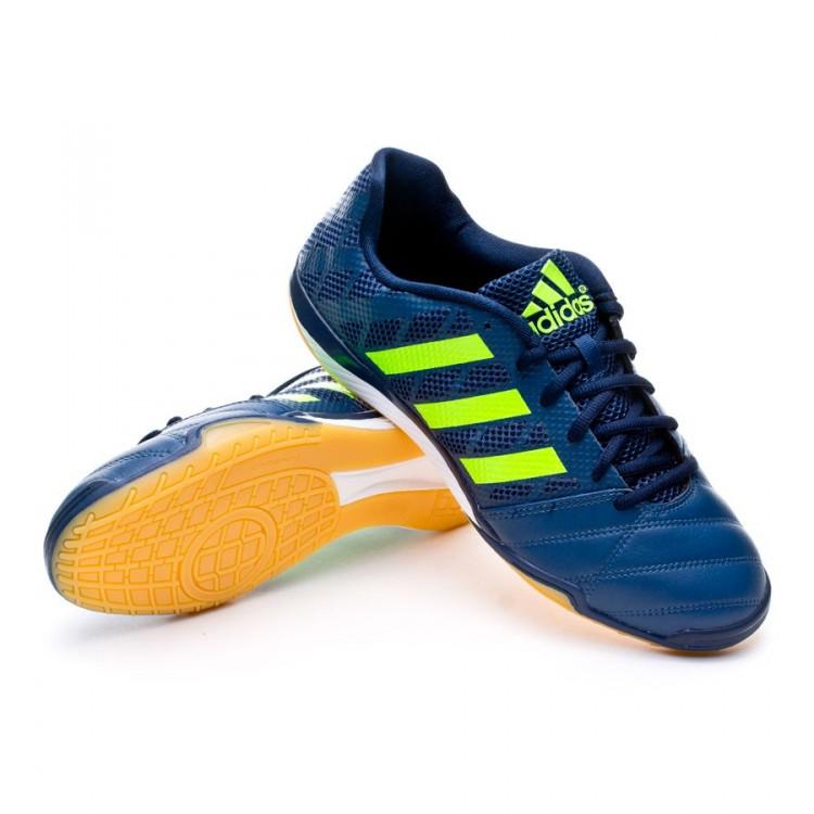 3c8e194e0f67 Futsal Boot adidas Top Sala Rich blue-Solar green - Football store ...