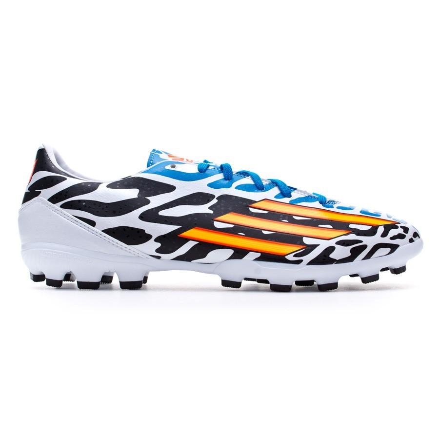 size 40 c3f28 6b528 Bota de fútbol adidas F10 TRX AG Messi WC Blanca-Solar gold-Negra -  Soloporteros es ahora Fútbol Emotion