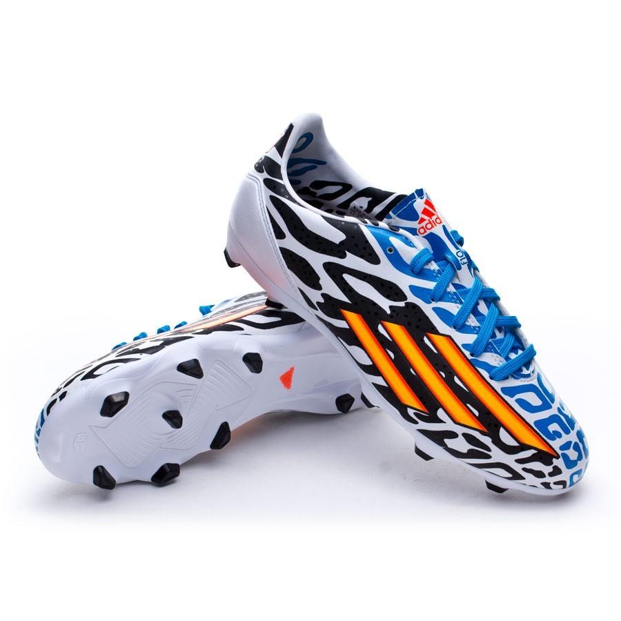 buy online 1fc0b 16748 Zapatos de fútbol adidas F10 TRX FG Messi WC Niño Blanca-Solar gold-Negra -  Soloporteros es ahora Fútbol Emotion
