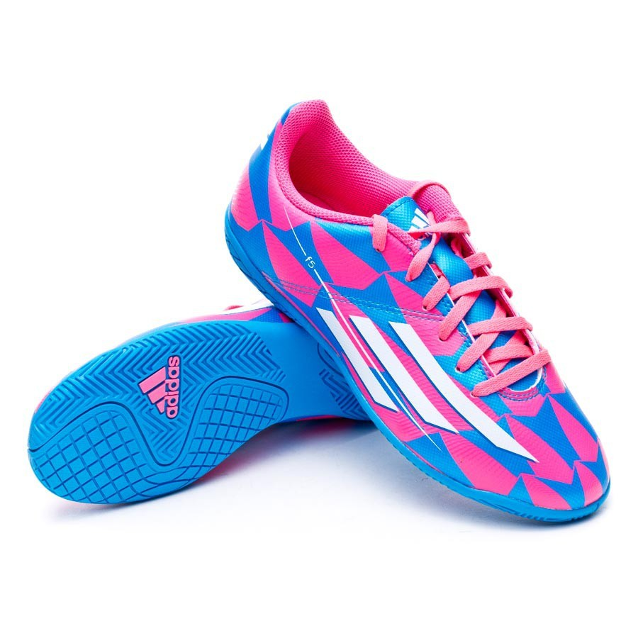 546a1e94ea8d2 Futsal Boot adidas Jr F5 IN Solar pink-Solar blue - Football store ...