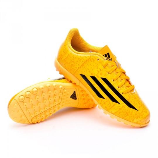 Bota  adidas Jr F5 TRX Turf Messi Solar gold-Negra